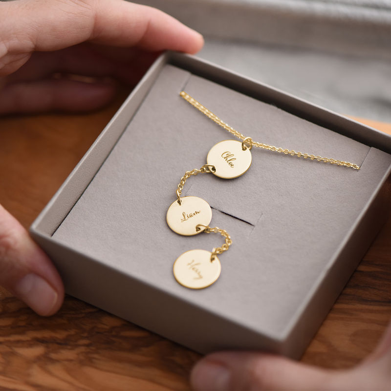 Personalized Y Necklace in Gold Plating - 4