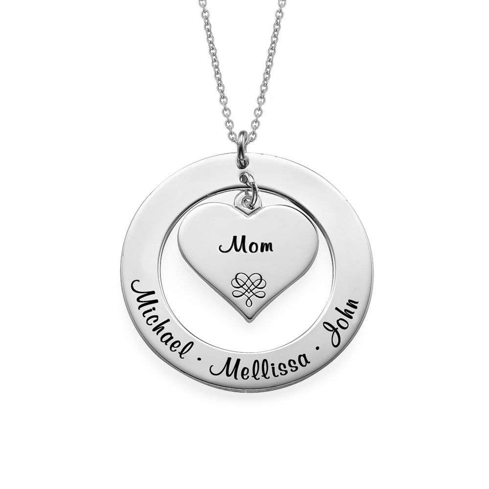 Grandmother / Mother Necklace in Sterling Silver - 1