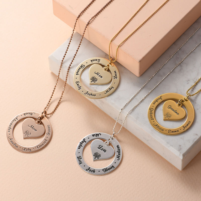 Grandmother / Mother Necklace with Names - Gold Plated - 3