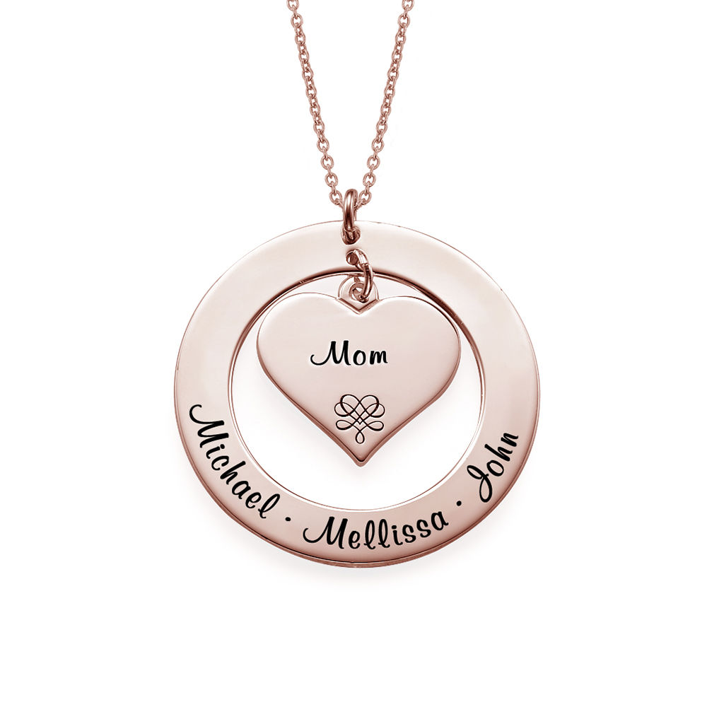 Grandmother / Mother Necklace with Rose Gold Plating - 1