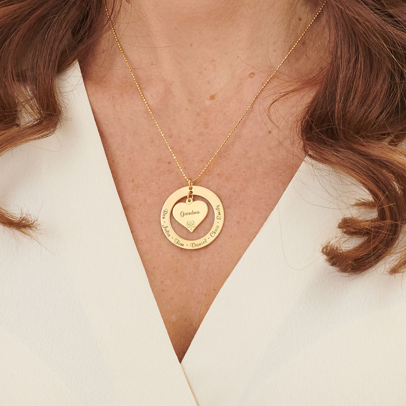 Grandmother / Mother Necklace with Names - Gold Vermeil - 3