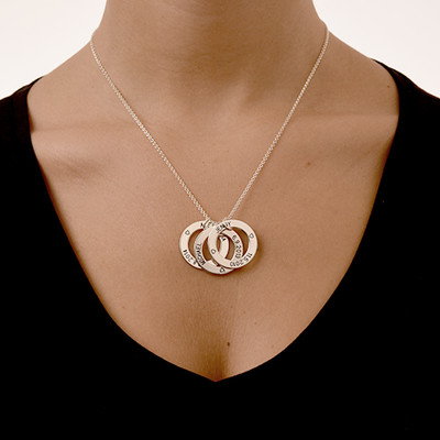 Perfect Gift for Mom - Engraved Family Circle Necklace - 2