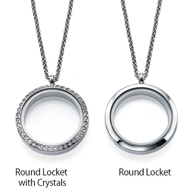Floating Locket for Mom with Children Charms - 2