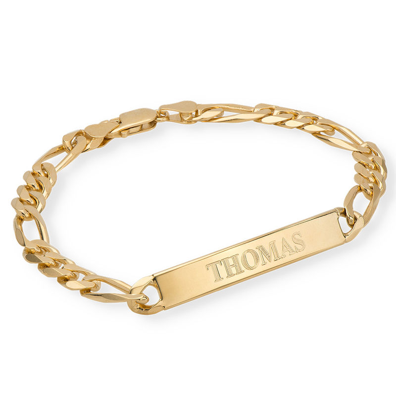 ID Bracelet for Men in 18K Gold Vermeil
