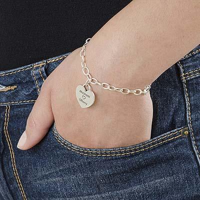 Silver Charm Heart Bracelet - 2