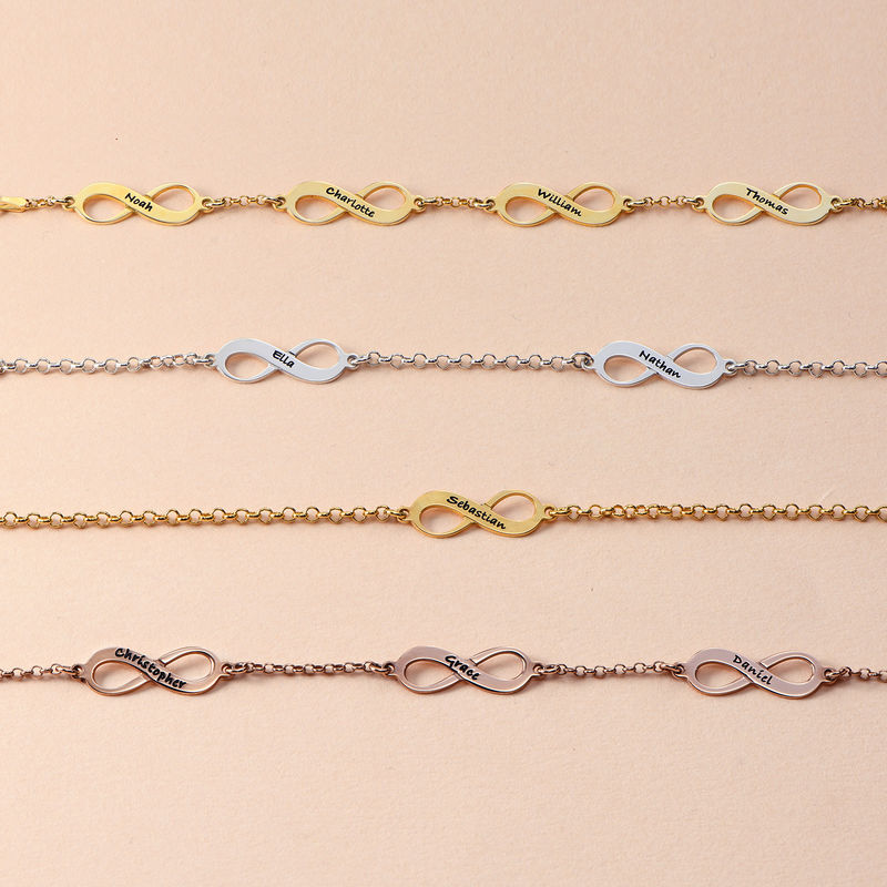 Multiple Infinity Bracelet with Gold Plating - 2