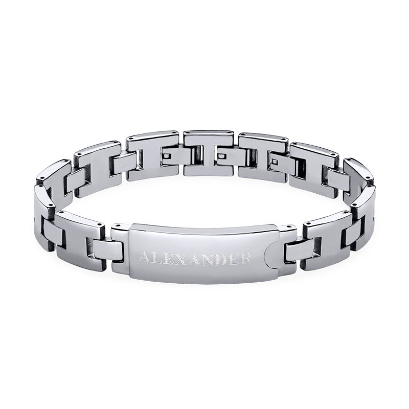 Stainless Steel Men's Bracelet with Engraving