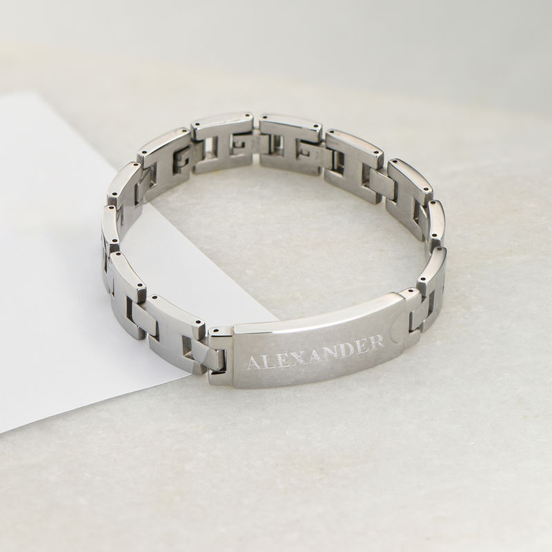 Stainless Steel Men's Bracelet with Engraving - 2