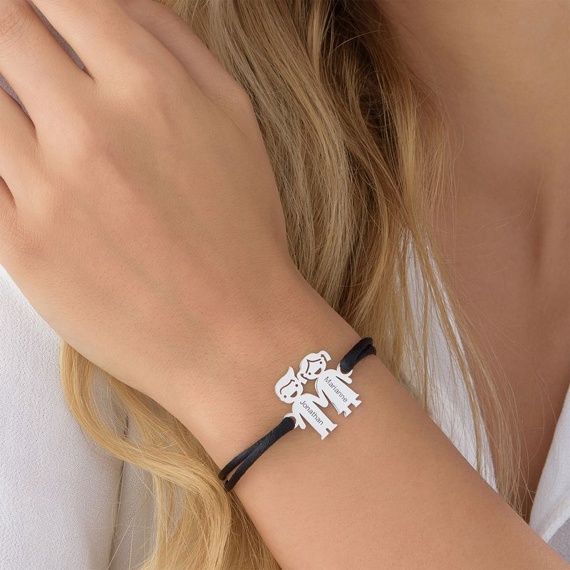 Kids Holding Hands Charms Bracelet - 3
