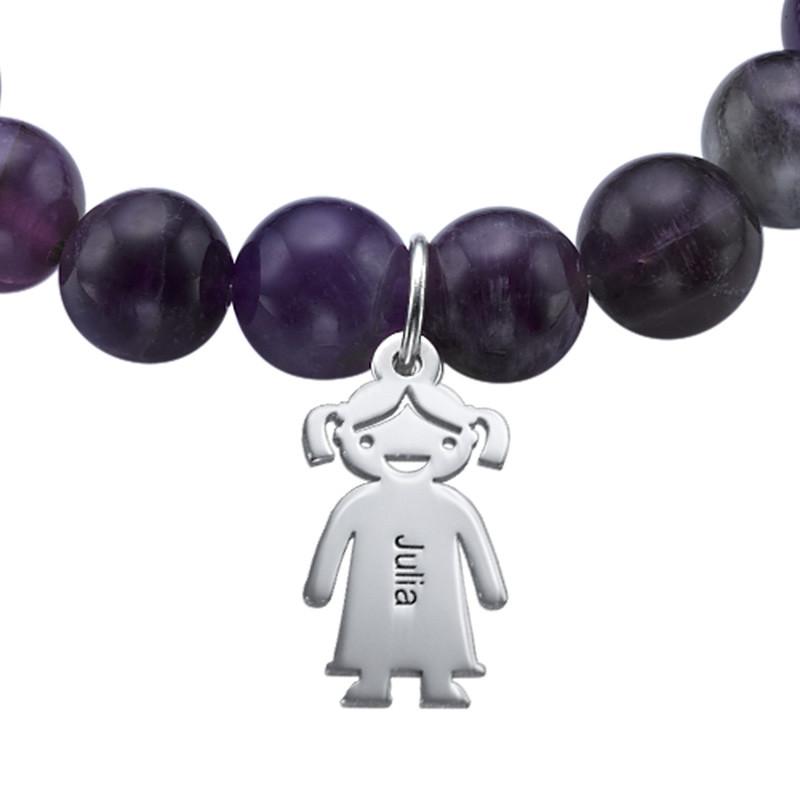 Bead Bracelet with Kids Charms - 2