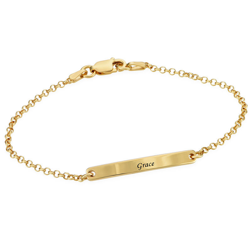 Women's ID Bracelet in Gold Plating