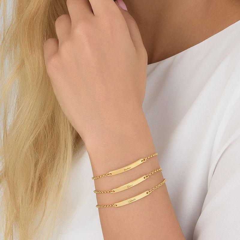 Women's ID Bracelet in Gold Plating - 3