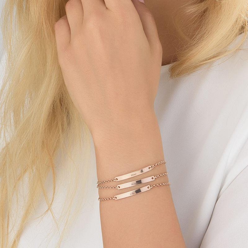 Women's ID Bracelet in Rose Gold Plating - 3
