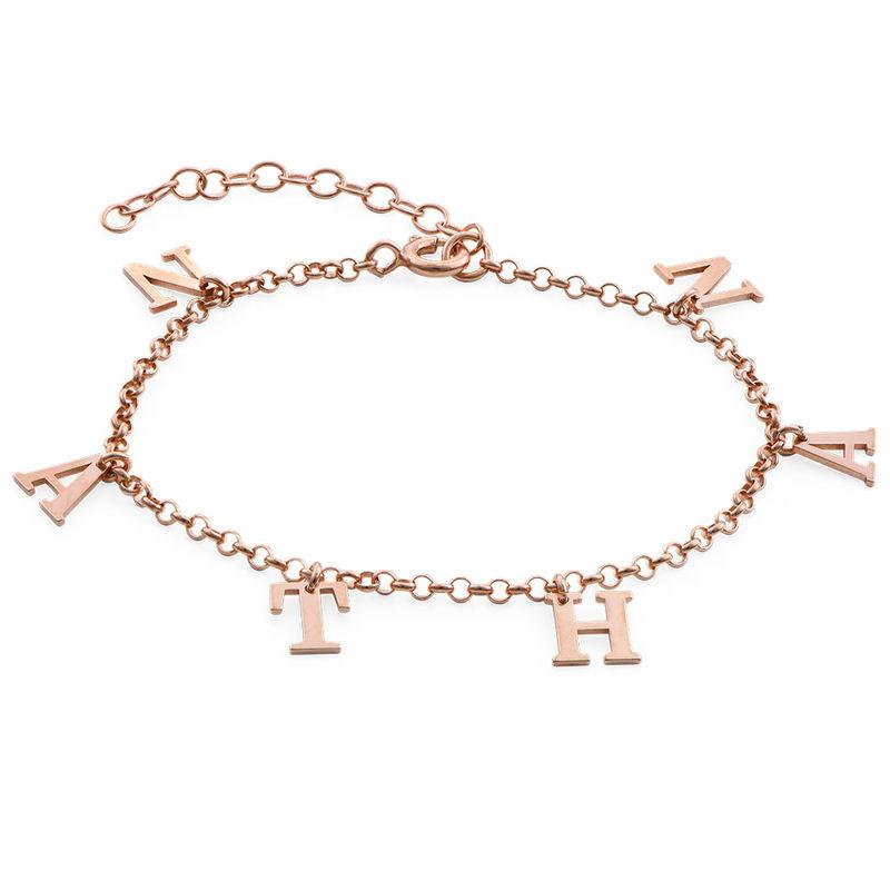 Name Bracelet in Rose Gold Plating