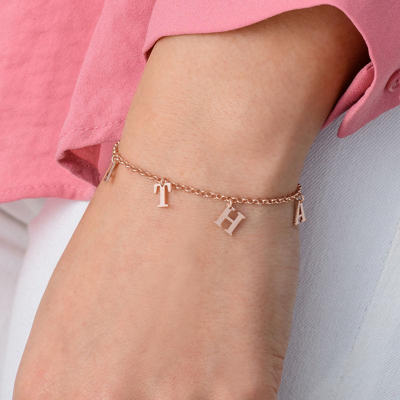 Name Bracelet in Rose Gold Plating - 1