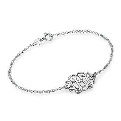 Sterling Silver Monogram Bracelet / Anklet