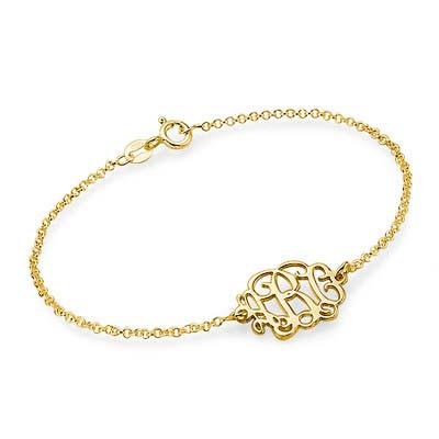 18k Gold Plated Sterling Silver Monogram Bracelet / Anklet