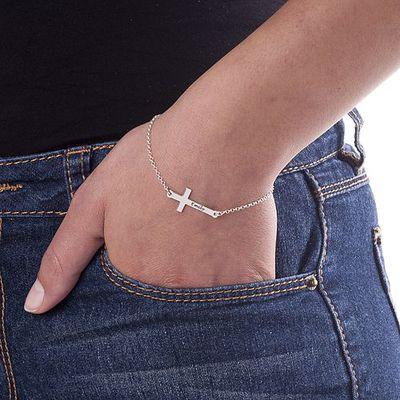 Side Cross Bracelet - Personalized - 2
