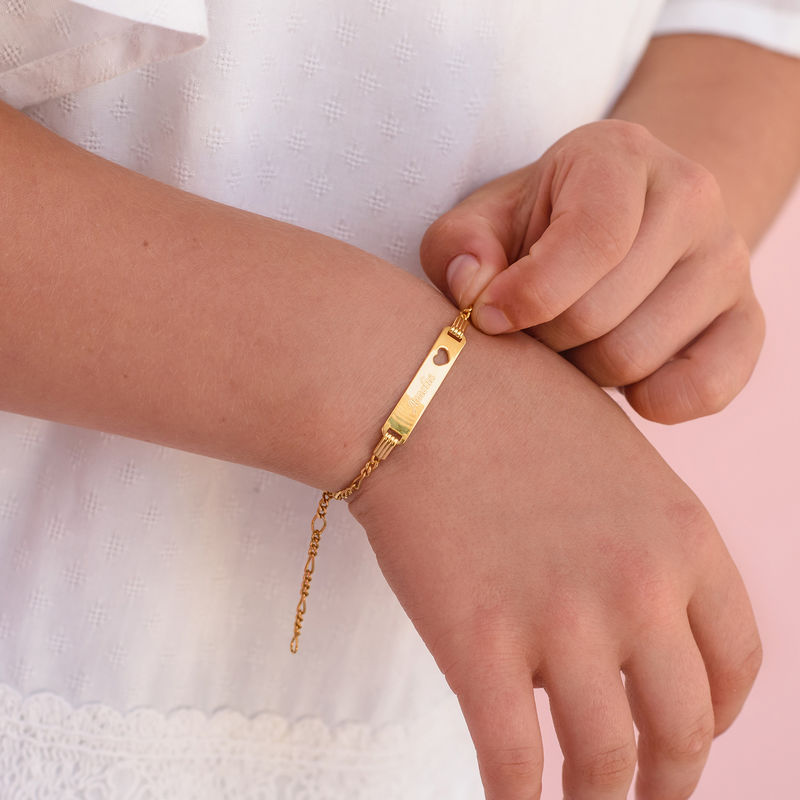 18K Gold Plated Name Bracelet for Teenagers - 2