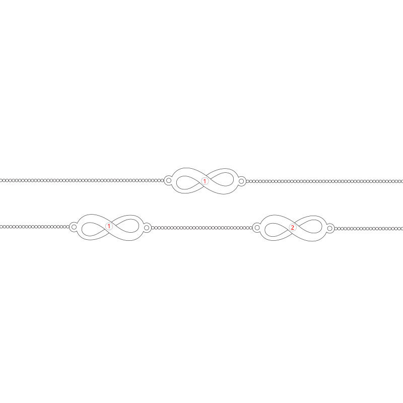 Multiple Infinity Anklet in Silver - 2