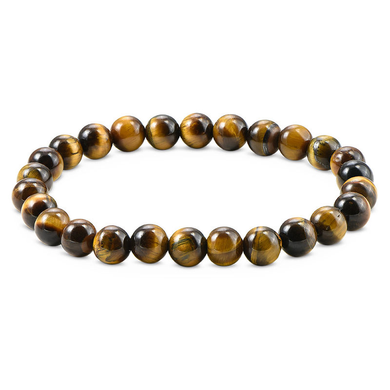 Tiger's Eye Men's Beaded Bracelet