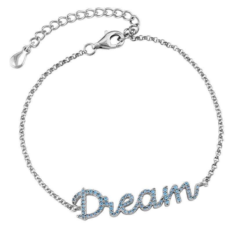 Dream Adjustable Inspirational Bracelet in Silver