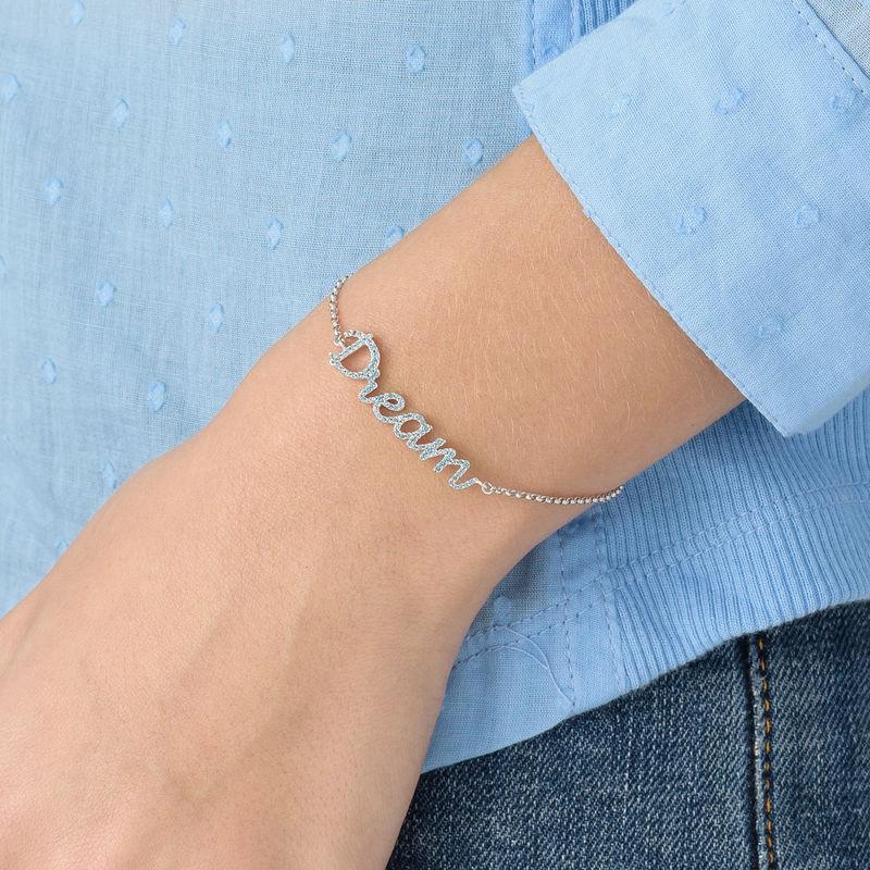 Dream Adjustable Inspirational Bracelet in Silver - 2