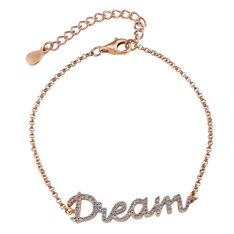 Dream Adjustable Inspirational Bracelet in Rose Gold Plating