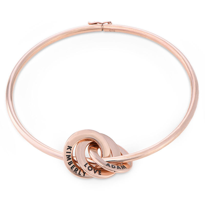 Russian Ring Bangle Bracelet in Rose Gold Plating