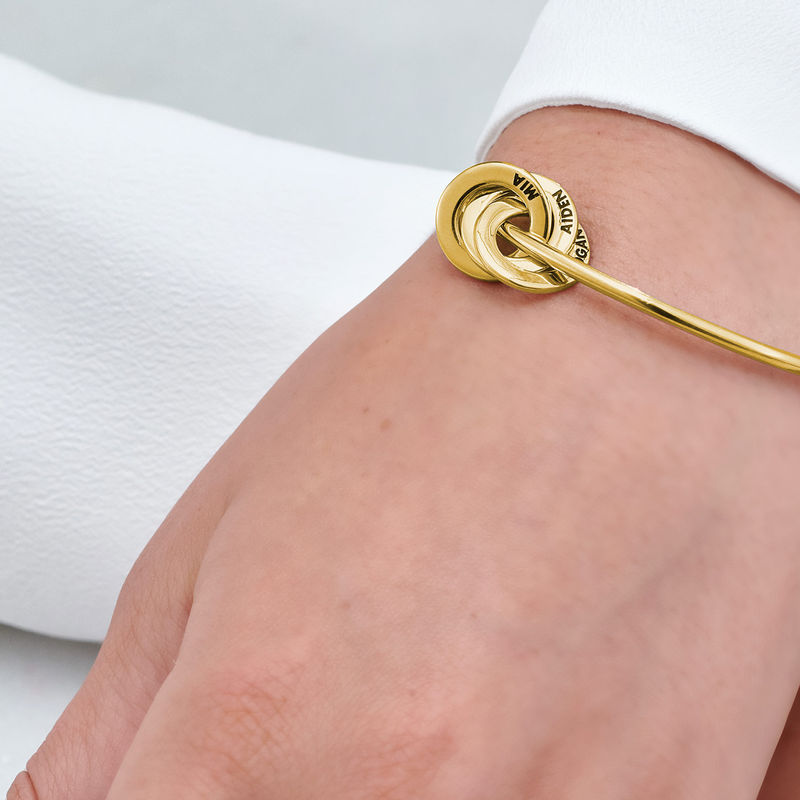 Russian Ring Bangle Bracelet in Gold Vermeil - 4