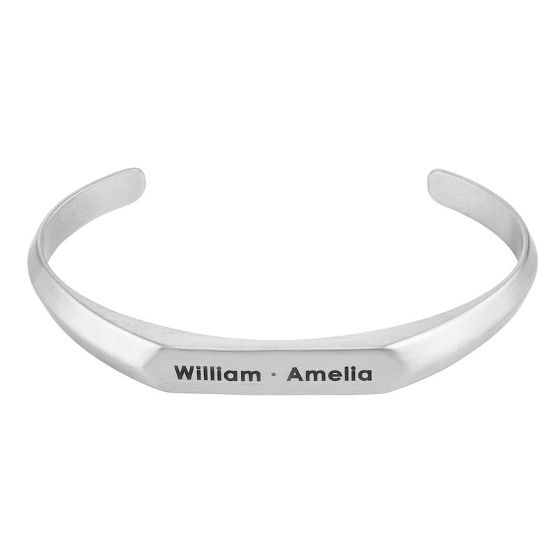 Men's Narrow Cuff Bracelet in Stainless Steel