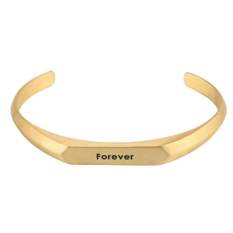 Men's Narrow Cuff Bracelet in 18k Gold Plating