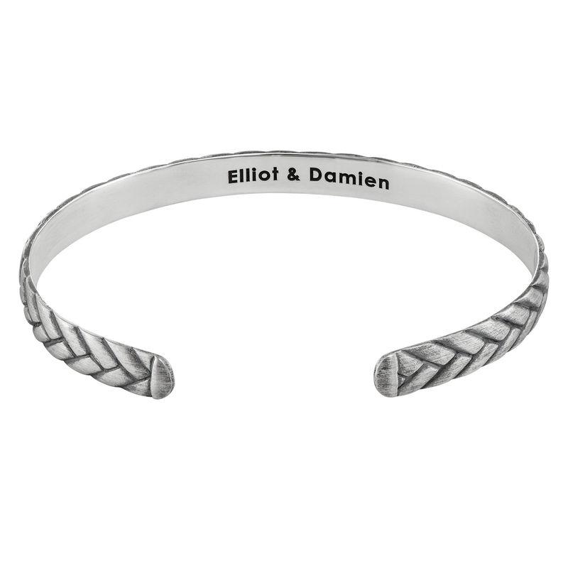 Engraved Streamline Cuff Bracelet for Men - 1