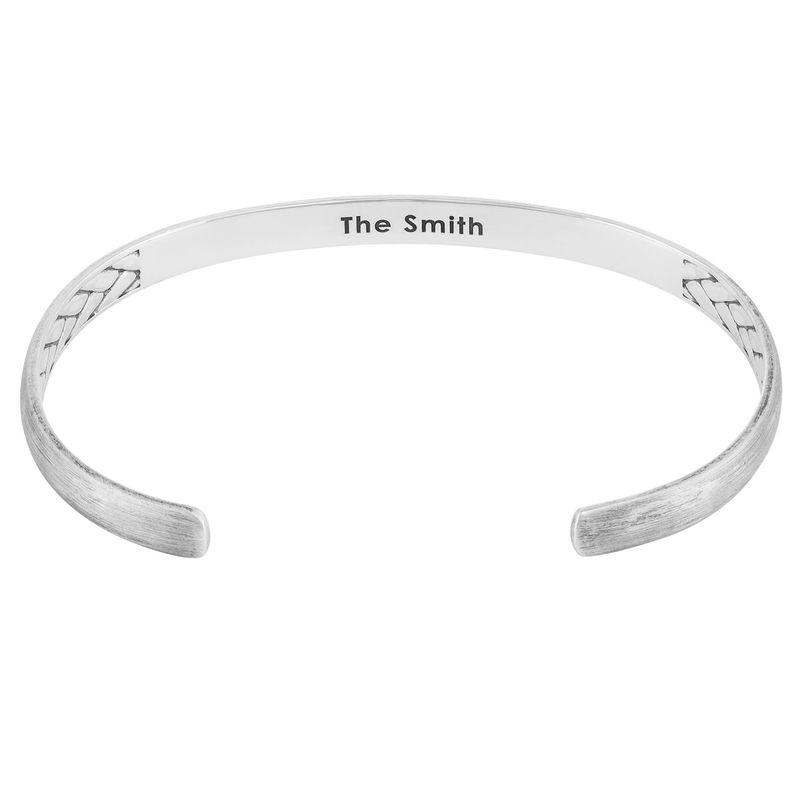 Men's Silver Thin Cuff Bracelet - 1