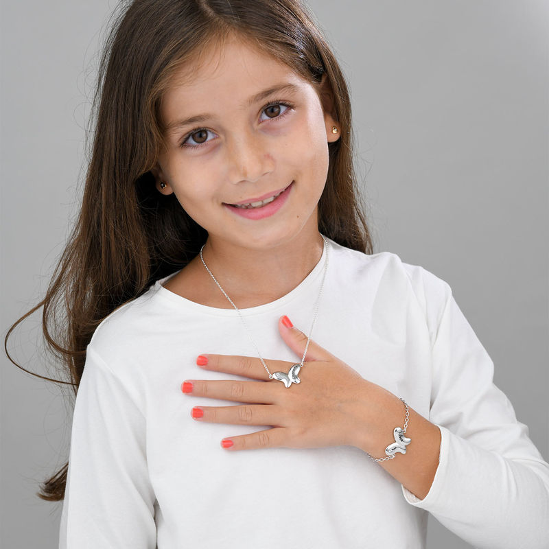 Butterfly Bracelet for Girls with Cubic Zirconia in Sterling Silver - 3