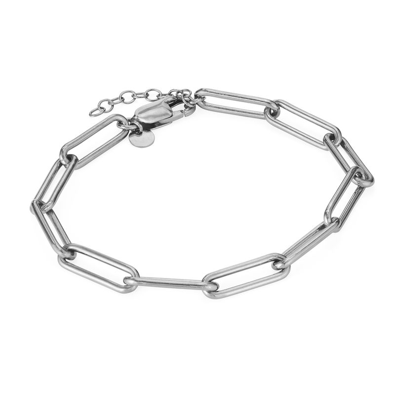 Chain Link Bracelet in Sterling Silver