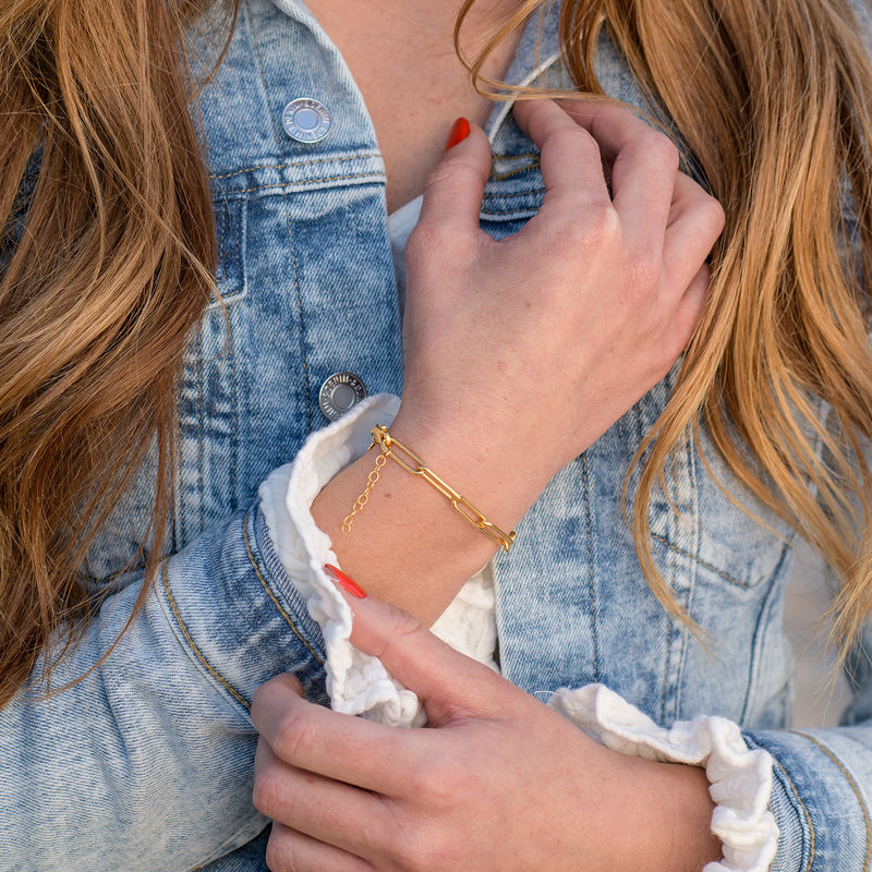 Chain Link Bracelet in 18K Gold Plating - 1