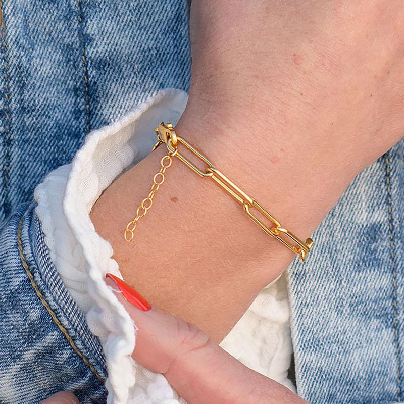 Chain Link Bracelet in 18K Gold Plating - 2