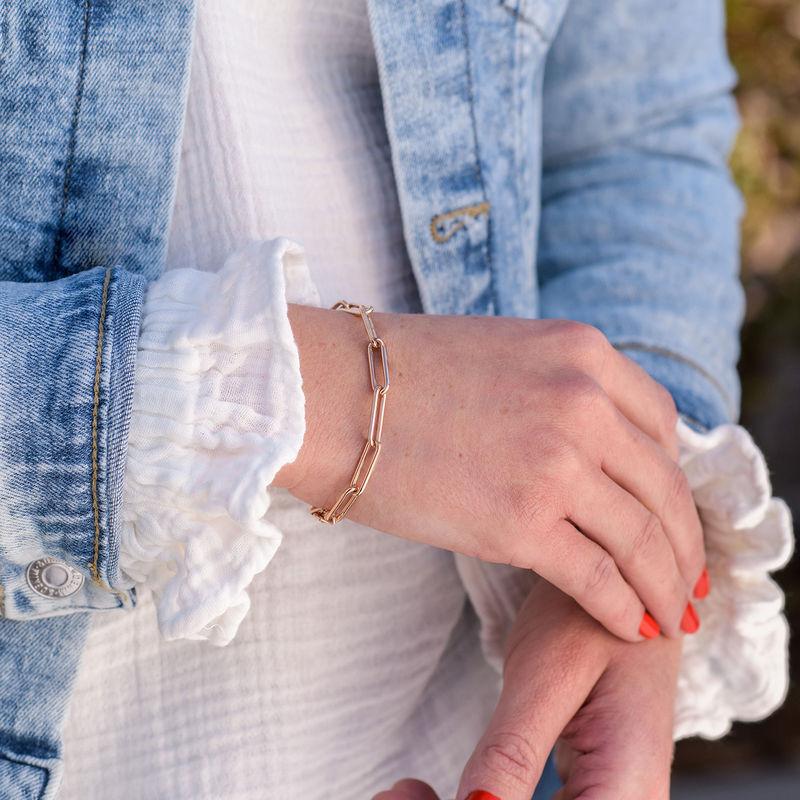 Chain Link Bracelet in 18K Rose Gold Plating - 1