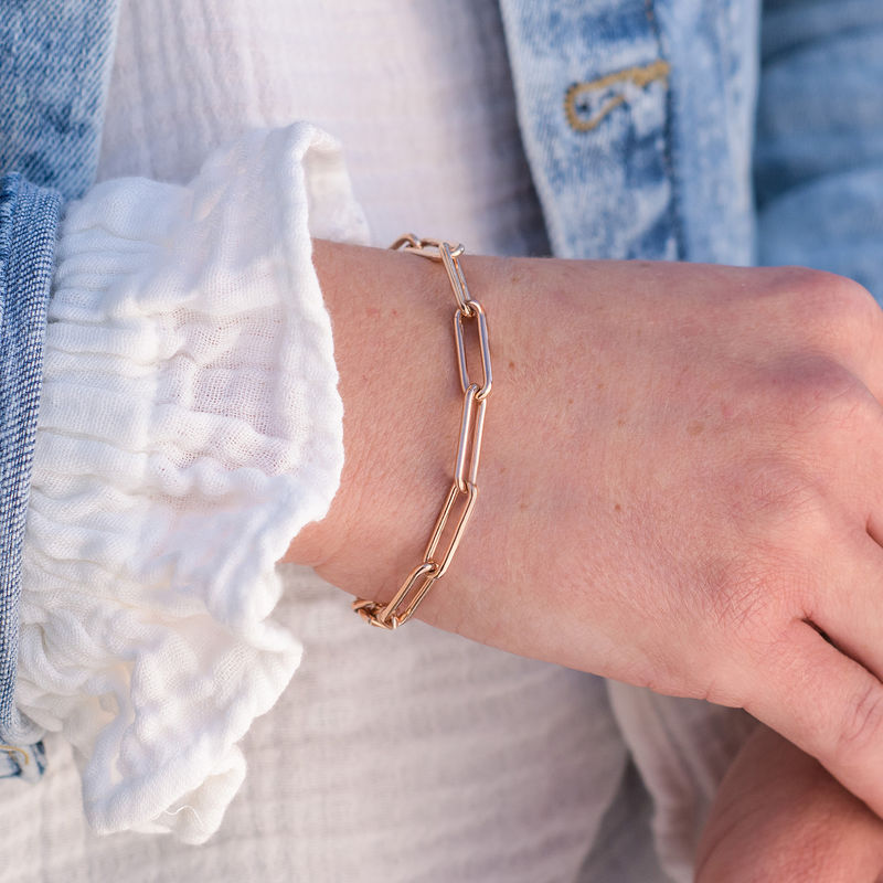 Chain Link Bracelet in 18K Rose Gold Plating - 2