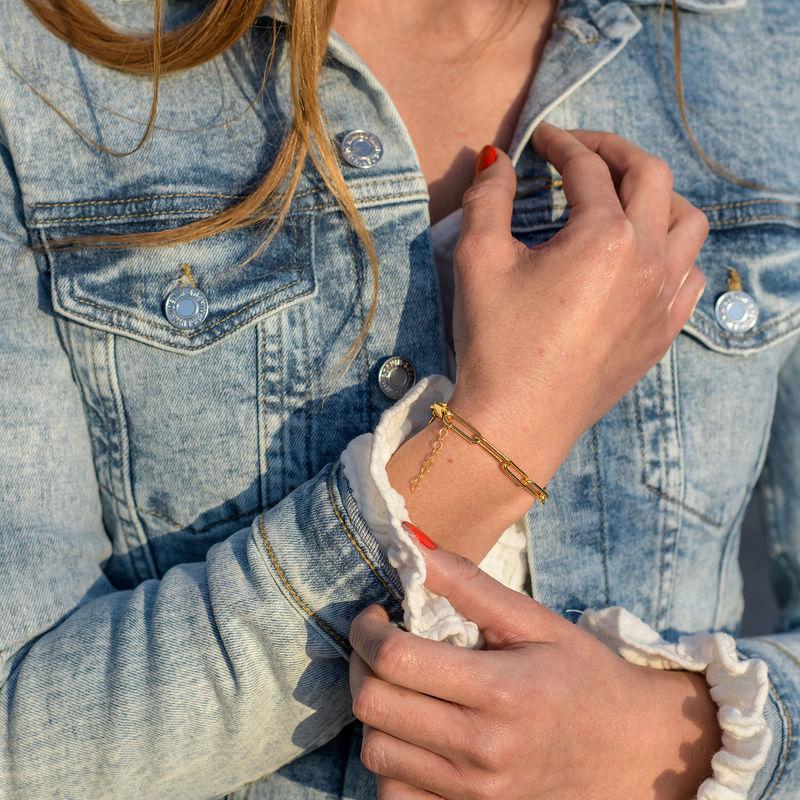 Chain Link Bracelet in 18K Gold Vermeil - 1