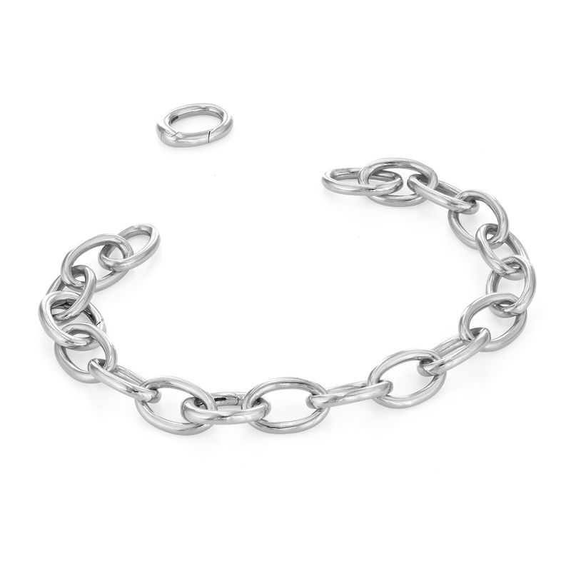 Round Chain Link Bracelet in Sterling Silver - 1