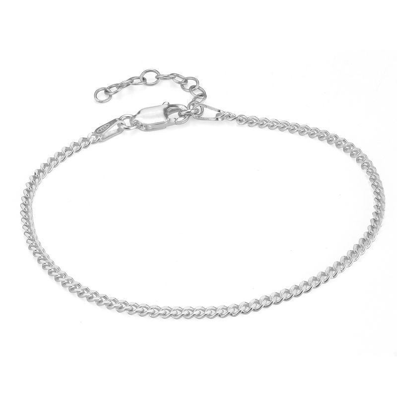 Tiny Cuban Chain Bracelet in Sterling Silver