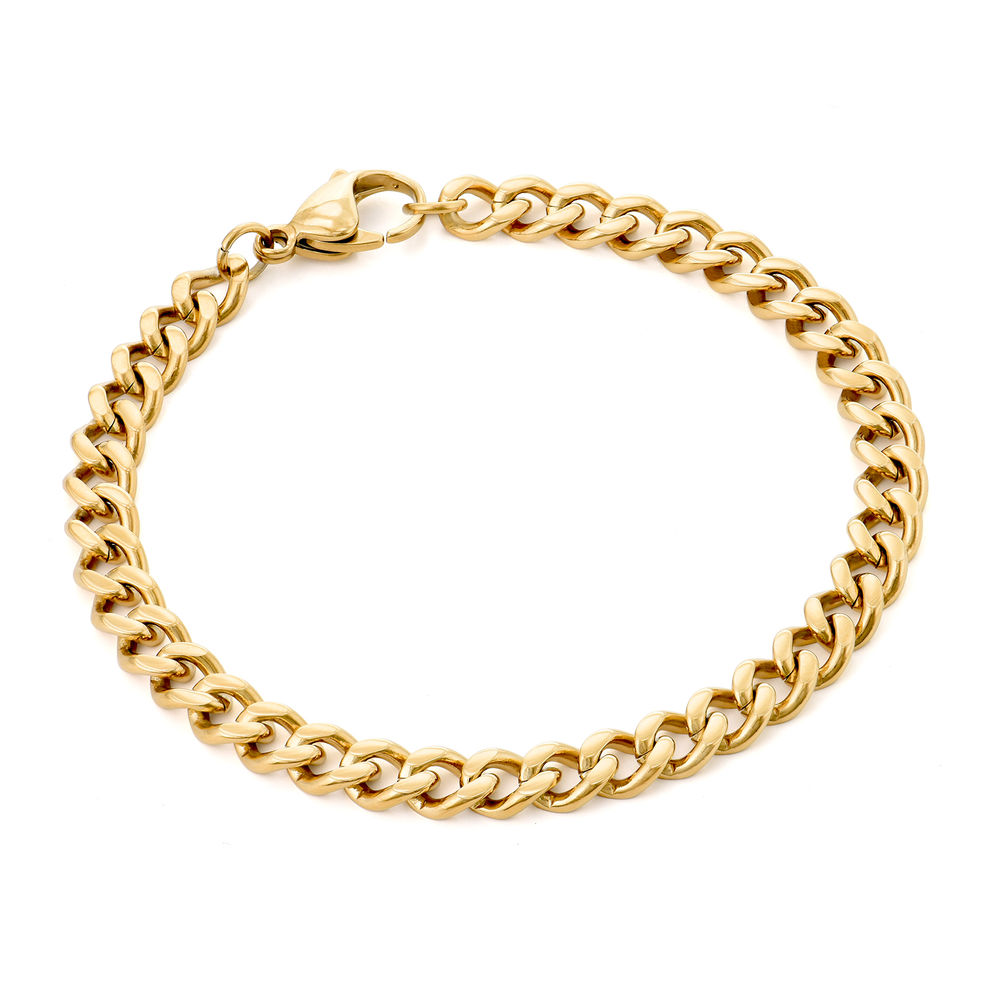 Men's Cuban Link Bracelet in 18K Gold Plating