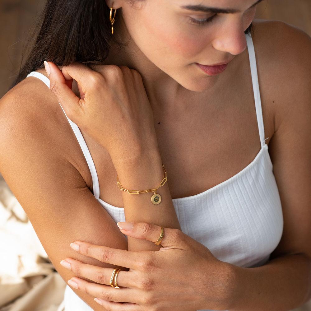 Odeion Initial Link Chain Bracelet / Anklet in 18k Gold Plating - 3