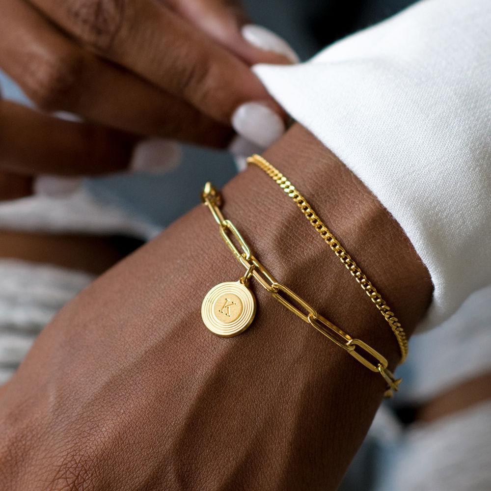 Odeion Initial Link Chain Bracelet / Anklet in 18k Gold Plating - 4