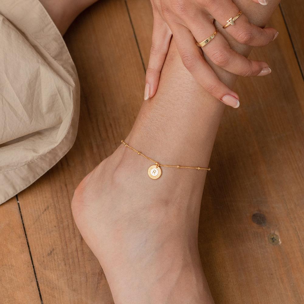 Mini Rayos Initial Bracelet / Anklet in 18k Gold Plating - 2