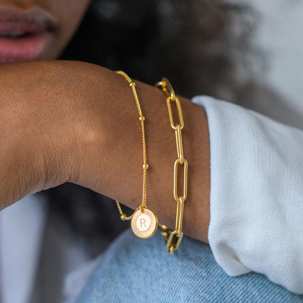 Mini Rayos Initial Bracelet / Anklet in 18k Gold Plating - 3