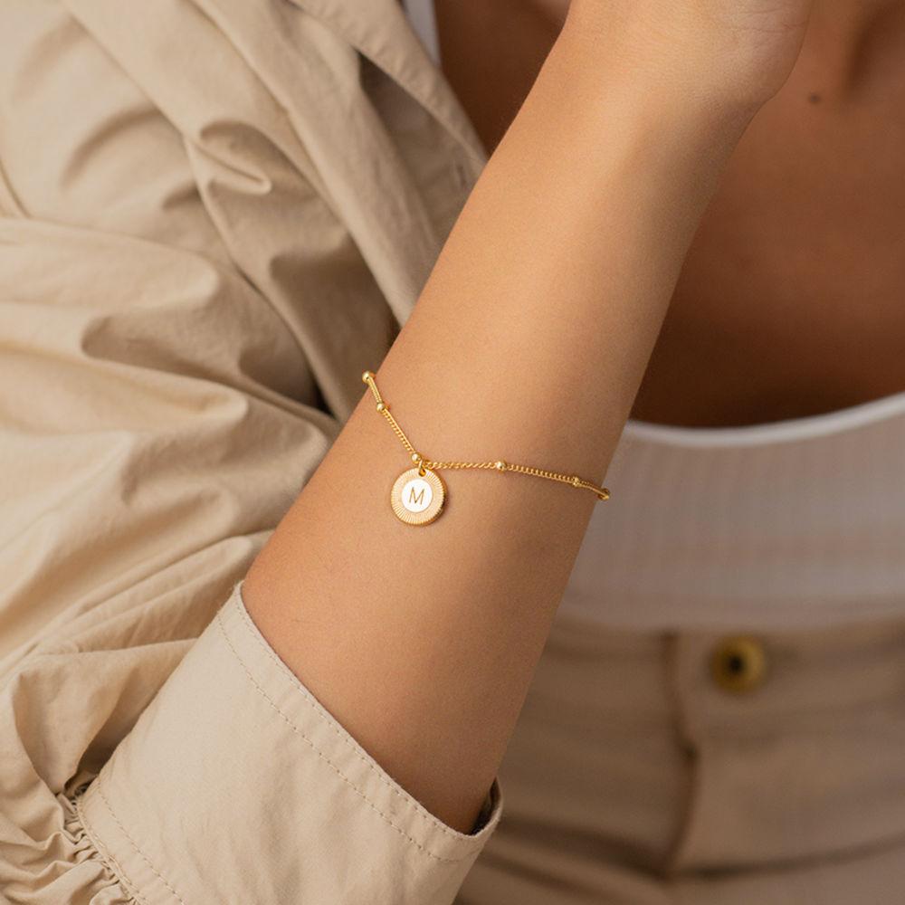 Mini Rayos Initial Bracelet / Anklet in Vermeil - 1