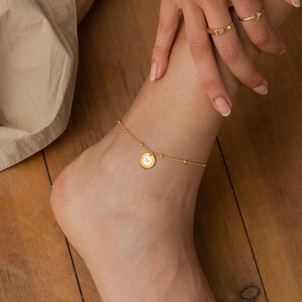 Mini Rayos Initial Bracelet / Anklet in Vermeil - 2